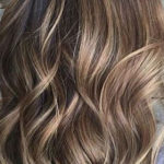 Brown Hair Meches - Ton in Ton - Beige Caramel Gold