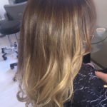 Highlight Meches - Long Hair Brown Beige Caramel